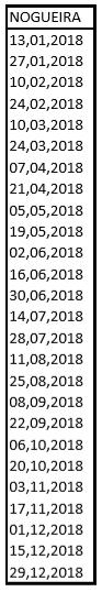nogueira horario2018